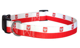 Medium Polish Flag Dog Collar - $12.00