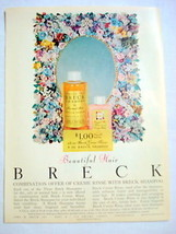 1957 Ad Beautiful Breck Shampoo and Creme Rinse - $9.99