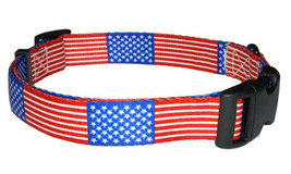 Medium USA Flag Dog Collar - $12.00
