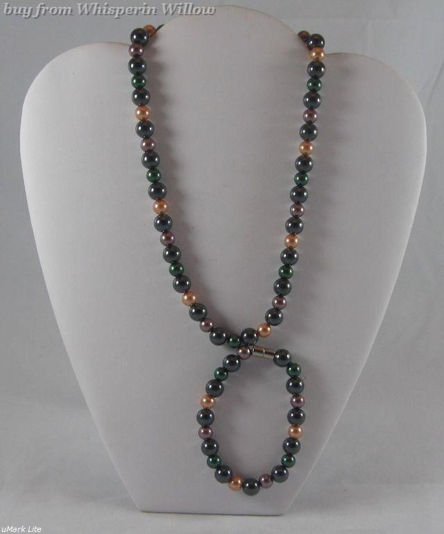 Primary image for Magnetic Hematite & Multi-Colored Pearl Necklace / Bracelet