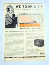 1939 Delco Batteries Ad Delco-Remy, Anderson, Indiana - $9.99