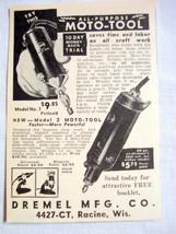 1938 Dremel Moto-Tool Ad Dremel Mfg., Racine, Wis. - $9.99