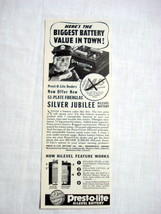 1939 Prest-O-Life Batteries Ad Indianapolis, Indiana - $9.99