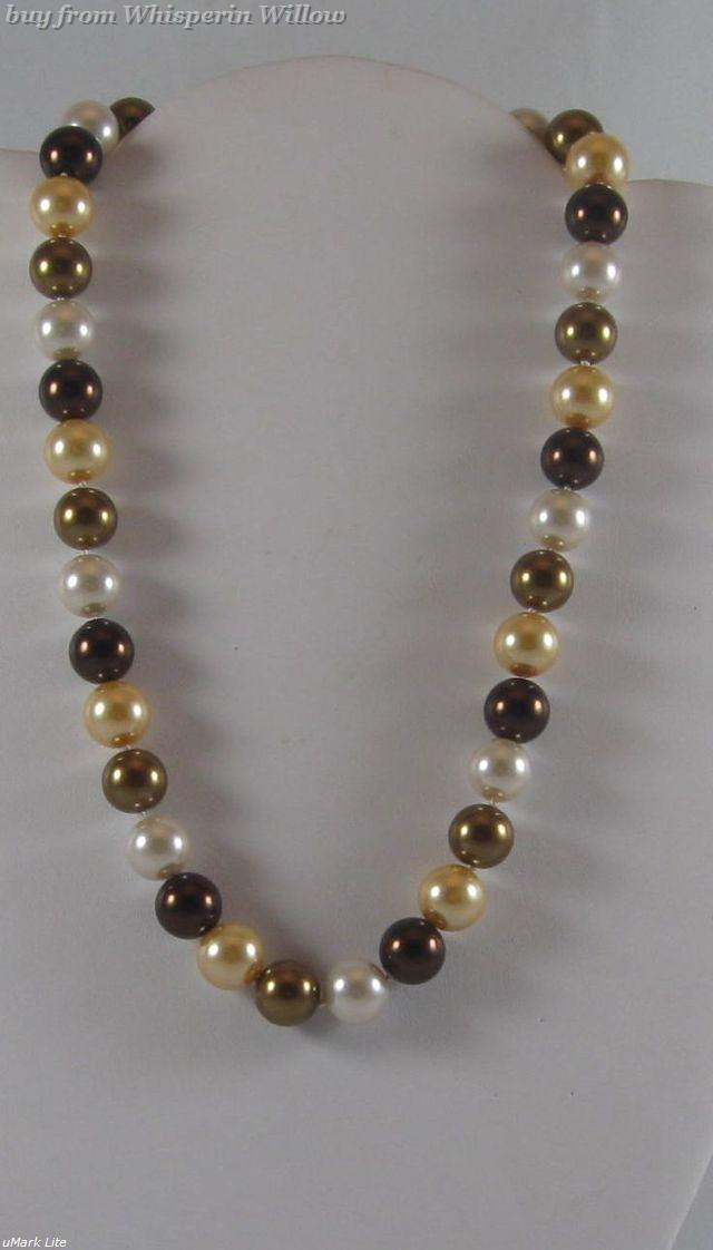 Primary image for Fresh Water Multi-Colored Pearl Necklace