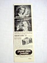 1946 Mercury II Camera Ad Universal Camera Corp.  - $9.99