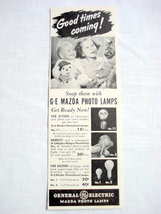 1940 GE Ad General Electric Mazda Photo Lamps  - $9.99