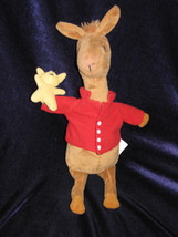 MERRYMAKERS STUFFED PLUSH LLAMA MISSES MAMA DOLL TOY ANIMAL RED SHIRT 10... - $37.61