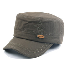 Mens Cotton Military Washed Baseball Cap Embroidered Army Plain Flat Cad... - $26.00