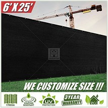 ColourTree 6' x 25' Black Fence Privacy Screen Windscreen Cover Fabric S... - $48.03