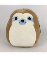 """Squishmallow 9"""" Tan Sloth Plush Animal Toy Simon Kellytoy - $9.49"""