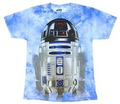 Star Wars R2-D2 Droid Men's SM Blue 100% Cotton Tie Dye T-Shirt Limited ... - $15.67