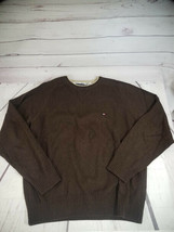 Tommy Hilfiger Large L Brown Long Sleeve Solid Sweater - $9.49