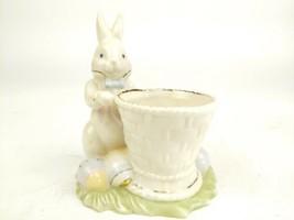 LENOX Occasions Easter Bunny Rabbit Basket Candlelight Votive candle holder - $14.97