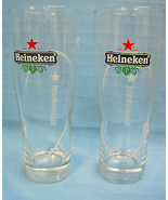 "Heineken Beer Glass Tumbler Highball Set of 2 6.5"" Tall Red Black - $33.50"