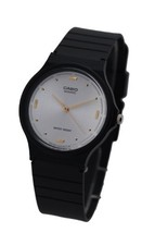 Casio Men's MQ76-7A1 Black Resin Quartz Watch with White Dial - $16.00