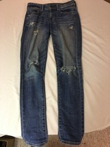 Women's American Eagle Distressed Super Skinny Jeans Size 4 Regular - $16.99