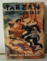 Tarzan The Terrible Edgar Rice Burroughs DJ Grosset & Dunlap 1921 Vintag... - $45.00