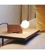 Modern Lamp Wood Puppy QI Wireless Charger Desk Study Light Home Lightin... - $96.43