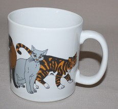 Cat Lovers Ceramic Mug Trend Pacific Coffee Cup 7 Breeds  - $10.84