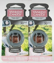 2 Ct Yankee Candle 0.13 Oz Smart Scent Summer Daydream Vent Clip Air Fre... - $15.99