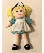 "Handmade Cloth Rag Doll Stuffed Blonde Yarn Hair Homemade 19"" Girl Decor... - $49.99"