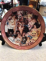 "THE FRANKLING MINT Heirloom ""Purr-Fection"" David Willardson Plate # HA1612 - $18.75"