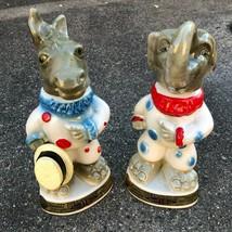 Political clown Bar bottles Dem elephant, Republican donkey Jim Beam - $46.53