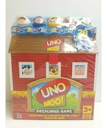 UNO MOO! Preschool Game Ages 3 Up 2008 Mattel Match Colors Animals Kids ... - $29.69