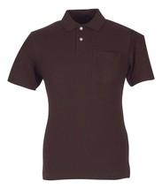 John Ashford NEW Mens Short Sleeve Pique Polo Shirt Small S Sable Brown - $14.46