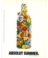 ABSOLUT SUMMER Vodka Magazine Ad from Chile RARE! - $14.99