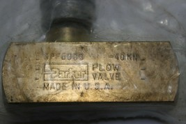 Parker SPF600B-40KN Flow Control Needle Brass Valve New image 2