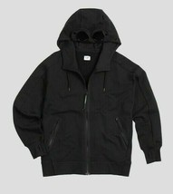 C.P.Company Men's Diagonal Fleece Goggle Hoody NEW AUTHENTIC Black 08CMS... - $179.99