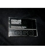 VINTAGE MAXELL C60 COMMUNICATOR SERIES BLANK TAPE P/I CASSETTE NEW IN PA... - $2.38