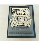 Vintage Abingdon art sheets church clip art book clip art drawings craft... - $19.75