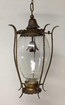 Gold Gilded Lantern, Pendant Chandelier, Crystal Chandelier, Rare Vintag... - $1,200.00