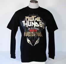 Southpole Black Metal Thunder Layered Thermal Tee Shirt Mens Medium M NWT - $29.69