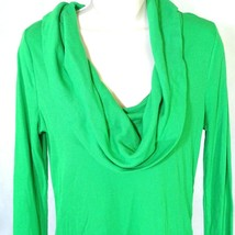 Gap Waffle Knit Thermal Cowl Neck Top Octavia Women Size M Green Long Sleeve - $17.81