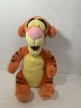 Disney Store Tigger sitting plush orange Winnie the Pooh soft toy stuffe... - $8.90