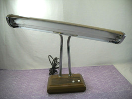 Vintage Double Light Switch For Each Light Gooseneck Desk Lamp - $49.95