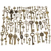 90pcs Antique Vintage Old Ornate Skeleton Key Lot Pendant Fancy Decorati... - $9.68