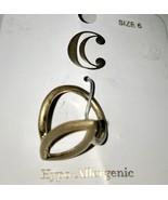NWT Charming Charlie Oval Brushed Goldtone Ring Size 6 J0137 - $6.64
