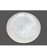 Pier 1 Imports Terra Cotta Appetizer Plates White Floral Fauna Glazed DI... - $9.89