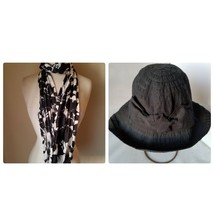 Cappelli Women's Bucket Hat Black Bow Beach Cotton & Talbots Floral Summ... - $27.33
