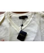 Bobby Jones Large Natural Sleeveless 100% cotton Sweater Free Conus Ship - $44.50