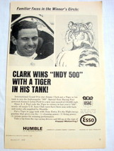 1965 Humble Oil Esso Ad Jimmy Clark Grand Prix Driver - $9.99