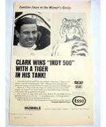 1965 Humble Oil Esso Ad Jimmy Clark Grand Prix Driver - $9.99