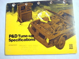 P&D Tune-Up Specifications 1970's Catalog 7-512A - $14.99