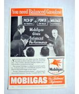 1939 Mobilgas Ad Mobil With Pegasus Horse Logo - $9.99