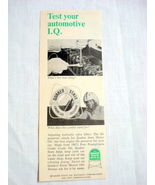 1965 Quaker State Motor Oil Ad Test Your Automotive IQ - $9.99