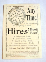 1893 Ad Hires Root Beer Any Time  - $9.99